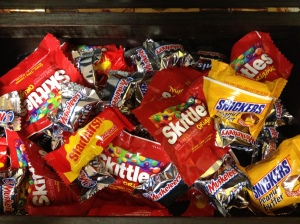 Halloween treats for the 6th and 7th graders.