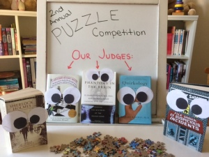 The second annual puzzle competition was a success!! We had a total of 2 participants, double the number of last year and everyone had a good time.
