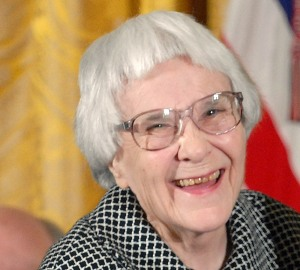 "U.S. President George W. Bush awards the Presidential Medal of Freedom to Harper Lee, author of ""To Kill a Mockingbird,"" in the East Room of the White House in Washington on November 5, 2007. (UPI Photo/Roger L. Wollenberg)"