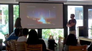 Employees from SpaceX captivated us with stories of their latest projects.