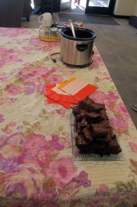But not unusual were the brownies and hot apple cider!