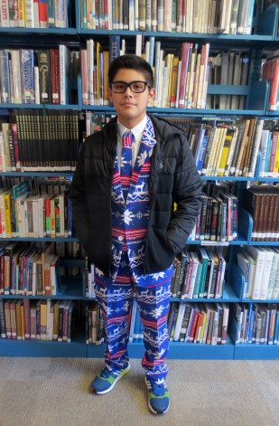 Bryce and his awesome suit for Wacky Wednesday.